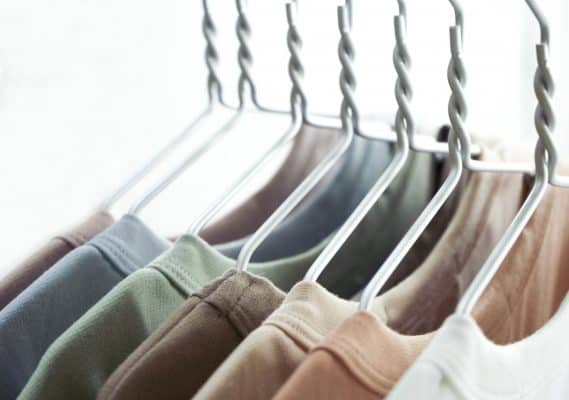 Fashion clothes on a rack