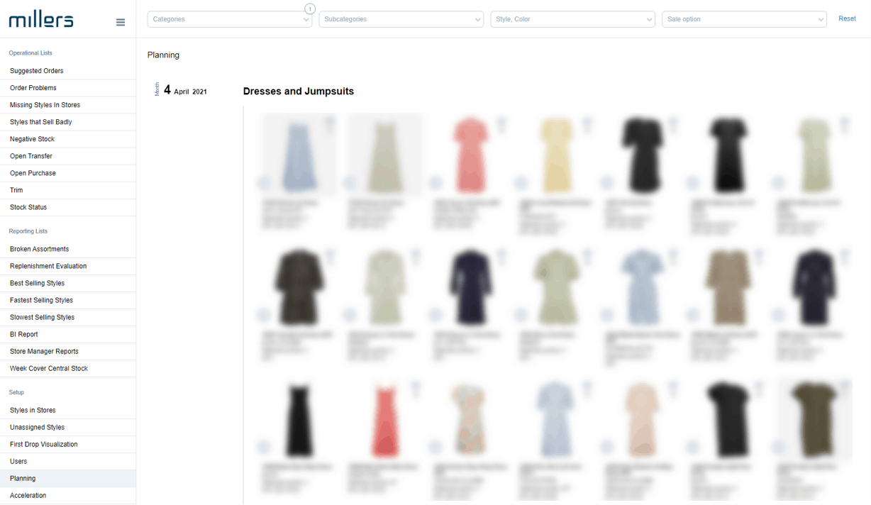 FashionBoard Replenishment makes you able to see which products you are planning on.